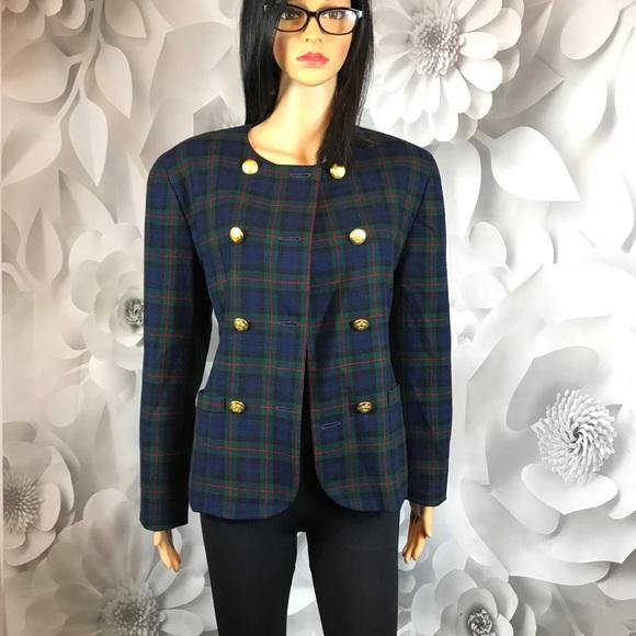 Pendleton Jackets & Blazers - double breasted blazer Pendleton red blue check  8